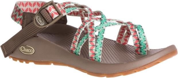 Chaco 女越野運動涼鞋細織夾腳款-皇室松綠