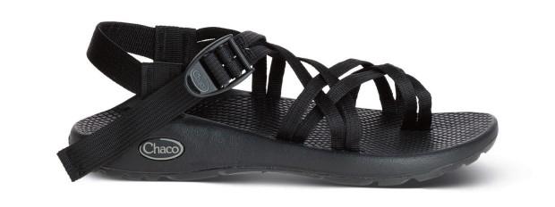 Chaco 女越野運動涼鞋細織夾腳款-黑