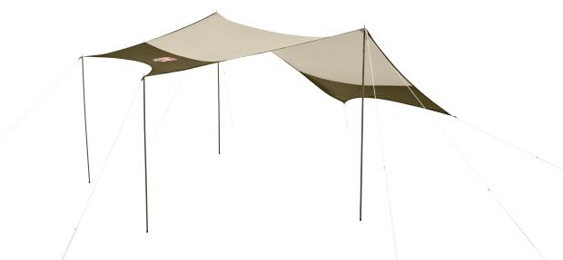 Coleman 綠橄欖版4-6人透氣圓頂露營帳IV套裝組-天幕