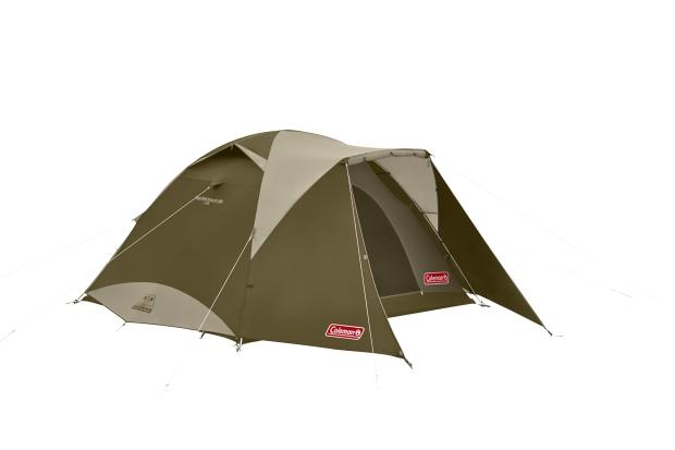 Coleman 綠橄欖版4-6人透氣圓頂露營帳IV套裝組-帳篷