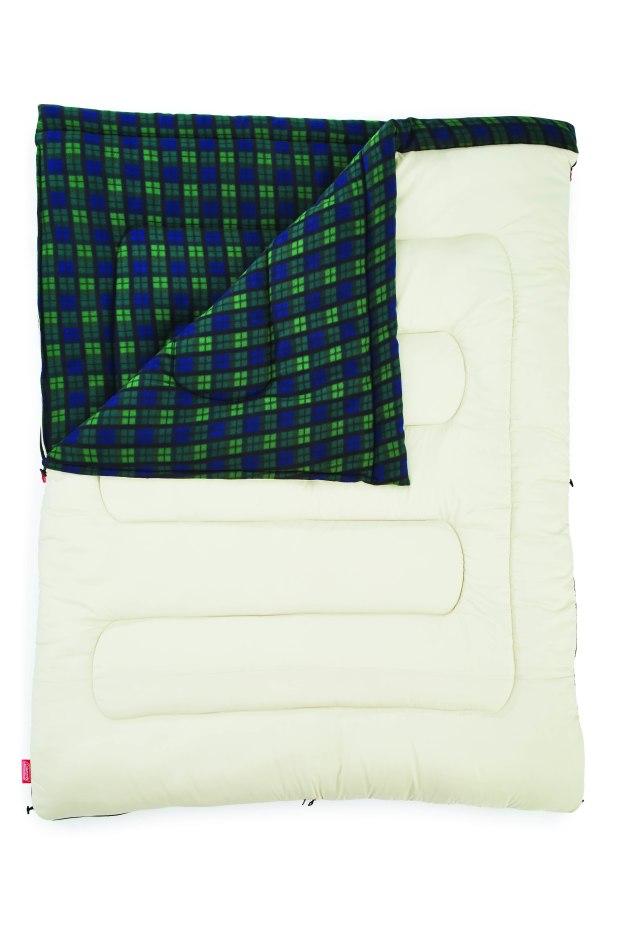 冒險者橄欖格紋刷毛睡袋-C0
